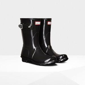 Short Hunter glossy boots